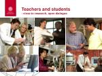 teachers and students close to research open dialogue