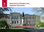 welcome to sweden and uppsala university