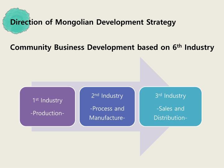 Direction of Mongolian Development Strategy