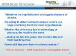 2009 study conclusion