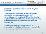 4 research on bad guys