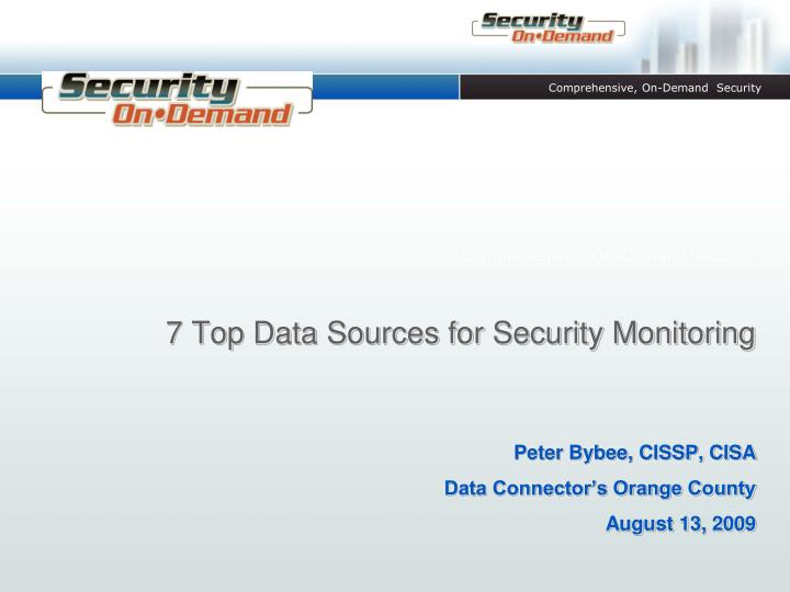 7 top data sources for security monitoring n.