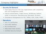 company highlights