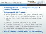sim products solutions
