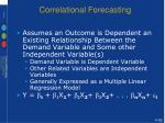 correlational forecasting