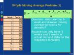 simple moving average problem 1