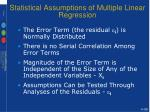 statistical assumptions of multiple linear regression