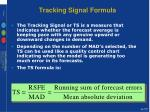tracking signal formula