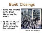 bank closings