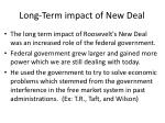 long term impact of new deal