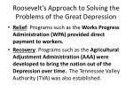roosevelt s approach to solving the problems of the great depression