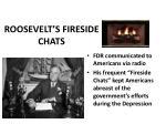 roosevelt s fireside chats