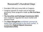 roosevelt s hundred days