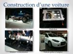 construction d une voiture