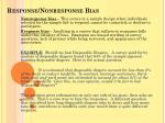 response nonresponse bias