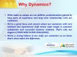 why dynamics