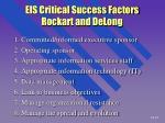 eis critical success factors rockart and delong