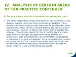 iv analysis of certain areas of tax practice continued2