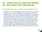 iv analysis of certain areas of tax practice continued3