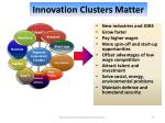 innovation clusters matter