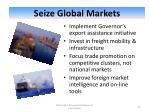 seize global markets