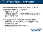 federal actions hydrocodone