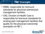 pmf oversight