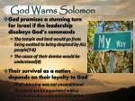 god warns solomon1