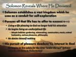 solomon reveals where he deviated1