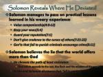solomon reveals where he deviated2