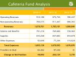 cafeteria fund analysis