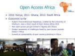 open access africa
