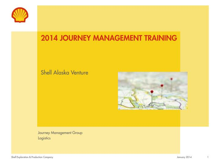 2014 journey management training n.