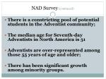 nad survey continued