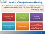 benefits of comprehensive planning