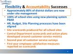 flexibility accountability successes