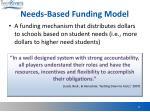 needs based funding model