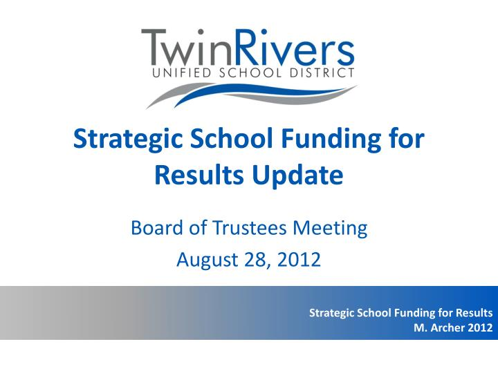 strategic school funding for results update n.
