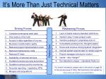 it s more than just technical matters