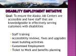 disability employment initiative