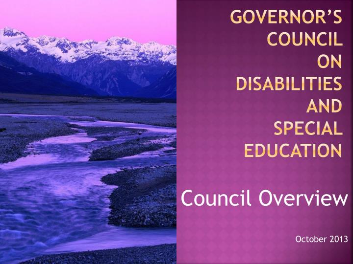 governor s council on disabilities and special education n.
