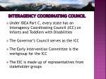 interagency coordinating council