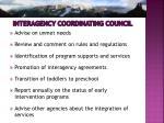 interagency coordinating council1