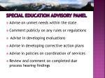 special education advisory panel1