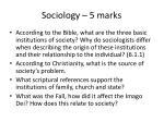 sociology 5 marks