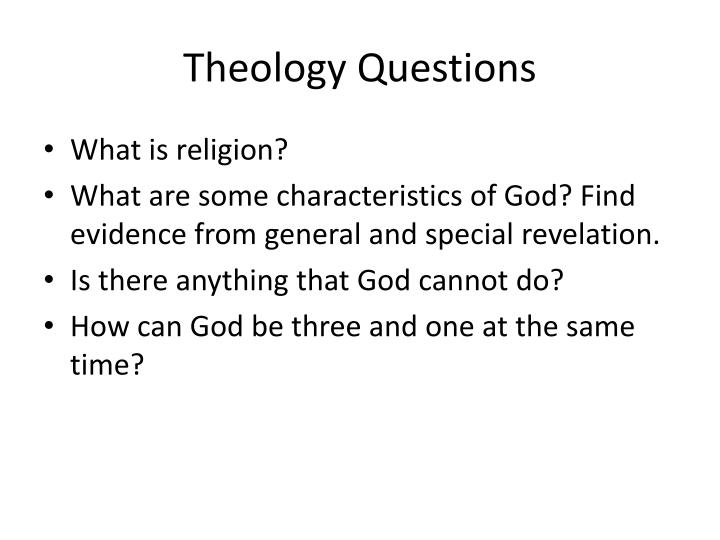 theology questions n.
