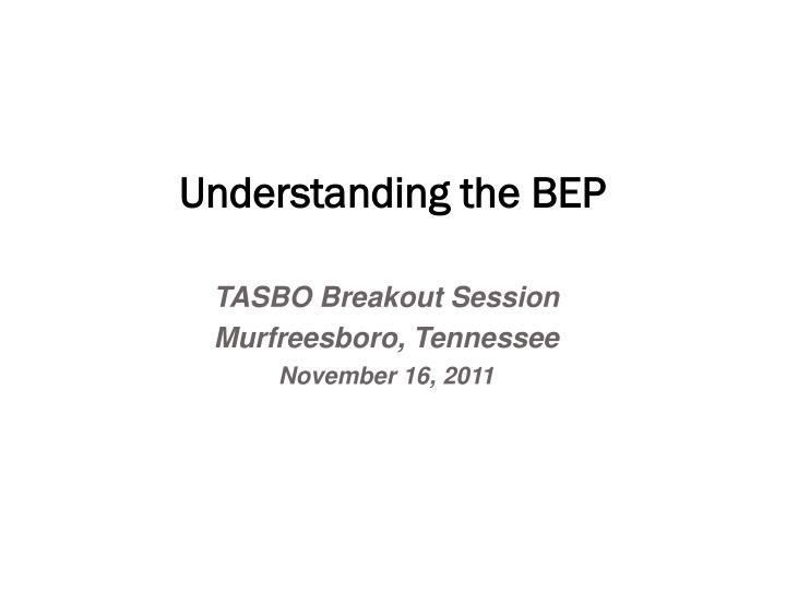 understanding the bep n.
