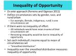inequality of opportunity