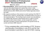 nac committee on it infrastructure draft recommendation 2