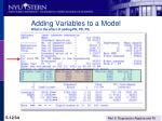 adding variables to a model what is the effect of adding pn pd ps